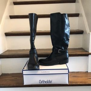 Croft and Barrow Ortholtie Black Leather boots